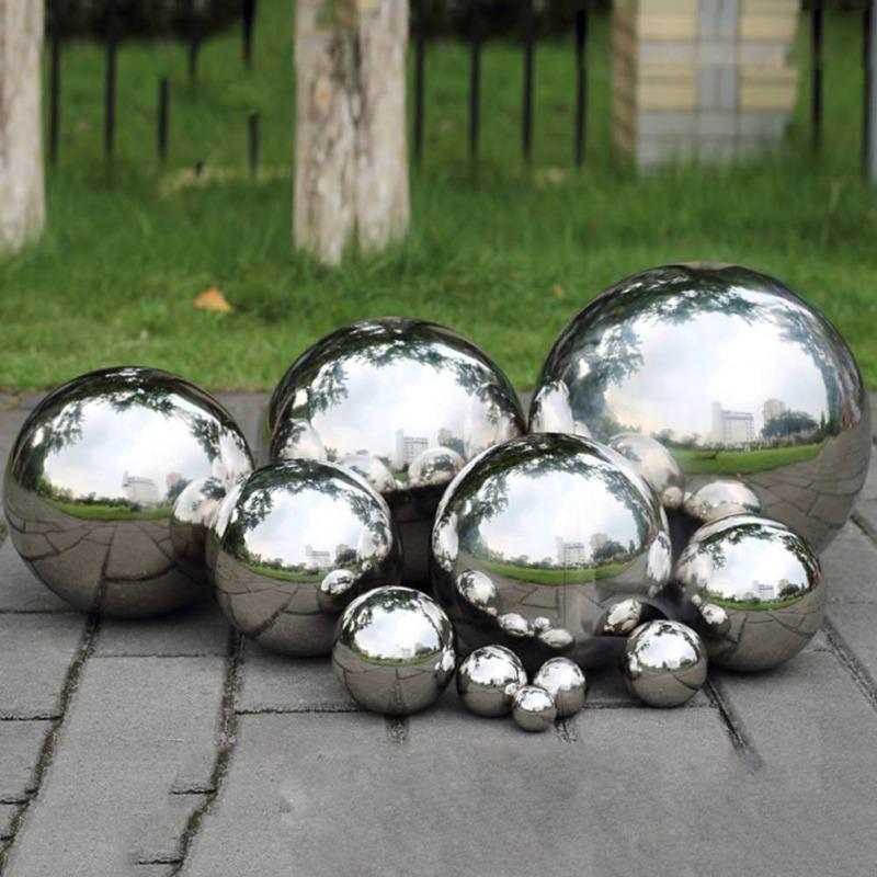 Beau Details About 19 300mm Silver Mirror Garden Spheres Stainless Steel Gazing  Hollow Balls Decor