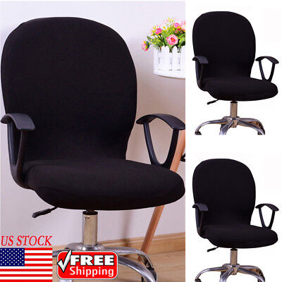 Office Chair Cover Swivel Chair Computer Armchair Protector Slipcover Black USA