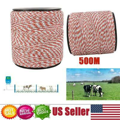 500m Roll Polywire For Electric Fence Fencing Rope Stainless Steel Poly Wire Usa