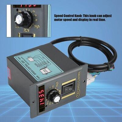 Ac 220v 50hz 400w Digital Adjustable Stepless Motor Speed Controller 0-1450rpm