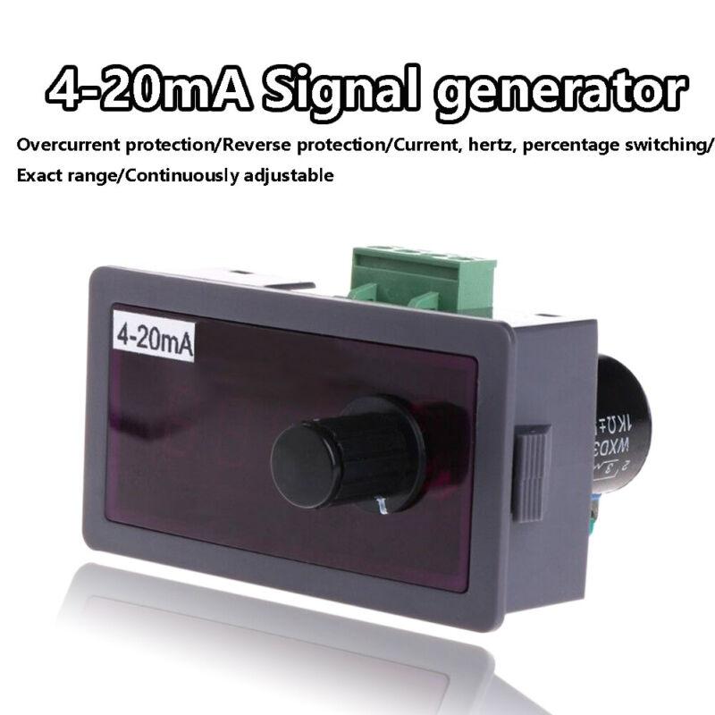 DC12V/24V 4-20mA Adjustable Signal Source Signal Generator w/Polarity Protection
