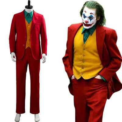 Halloween Costume Hot (Joker 2019 Hot Movie Joaquin Phoenix Arthur Fleck Cosplay Costume Suit)