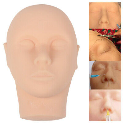 Silicone Head Injection Face Skin Suture Surgery Teaching Model Practice Kit New
