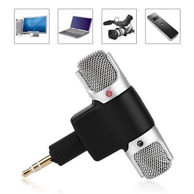 Mini 3.5mm Microphone Stereo Mic For PC Laptop Tablet Recorder Karaoke Camera segunda mano  Embacar hacia Argentina