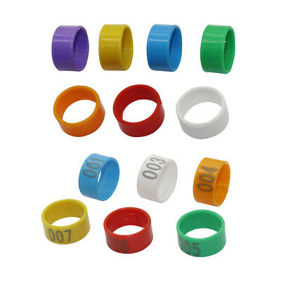 18 mm 1-100 Numbered Chicken Leg Bands 7 Colors Quail Leg Plastic Rings Clips (Plastic Chicken Rings)
