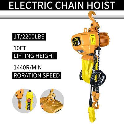1 Ton Electric Chain Hoist 4000 Lb Electric Crane Hoist 1 Ton 220v 3phases
