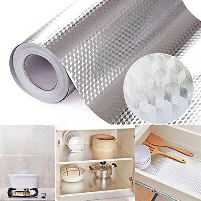Home Decoration - Waterproof Oil Proof Aluminum Foil Sticker Self Adhesive Kitchen Wall Stickers