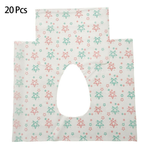 20Pcs Disposable Toilet Seat Covers for Waterproof Travel Po