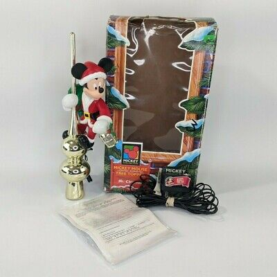Mr Christmas : Vintage Disney Mickey Mouse Lighted Animated Tree Topper : 1995