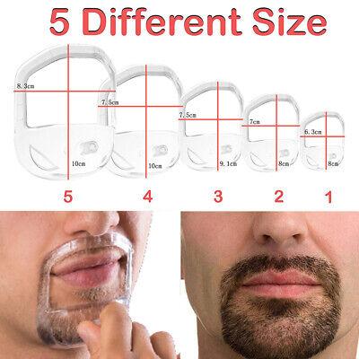 Beard Shaper Goatee Mustache Grooming Tool Face Hair Styling Template Flowery