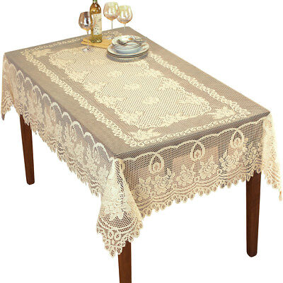 Rectangle Tablecloth Vintage Lace Table Cloth Valentines Day Decor - Valentines Tablecloth