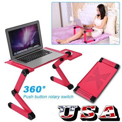 360° Folding Lap Desk Portable Computer Laptop Stand Table Standing Bed Desk USA