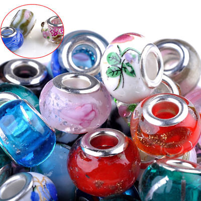 Charms For Bracelets Wholesale (100Pcs Wholesale Lots Bulk Murano Glass Beaded Charms Spacer Beads For)
