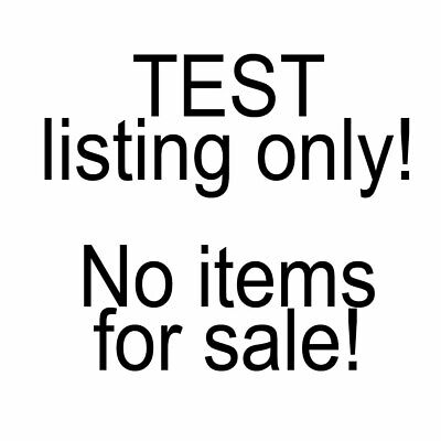 TEST ITEM #3 - DO NOT BUY - NOTHING FOR SALE - TESTING