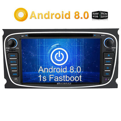 Pumpkin Android 8.0 GPS Autoradio For Ford Focus Mondeo 8Core DVD Car Stereo 4G ()