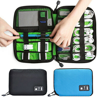 Electronic Accessories Storage USB Cable Organizer Bag Case Drive Travel Bag New Home & Garden