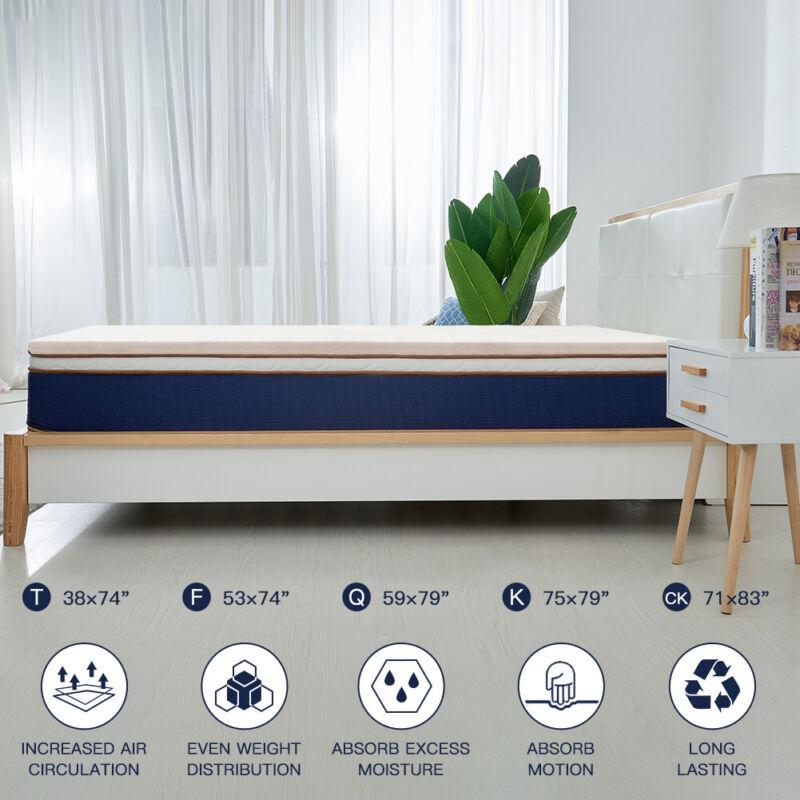 BedStory Topper Gel Mattress 3 Inch FULL-size Lavender Memory Foam MEDIUM-Firm