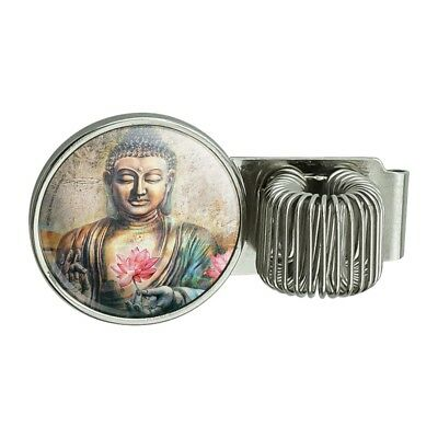 Buddha Pink Lotus Flowers Serenity Pen Holder Clip For Planner Journal Book