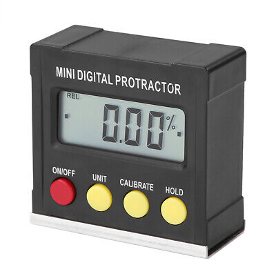 360 Lcd Digital Protractor Angle Meter Finder Gauge Level Magnetic Inclinometer