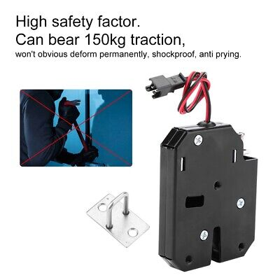 Wired 12v Electric Control Latch Drawer Switch Electromagnetic Lock Carbon Steel