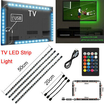 USB Powered 5V RGB LED Strip Light Remote Control For Bar TV Background Lighting