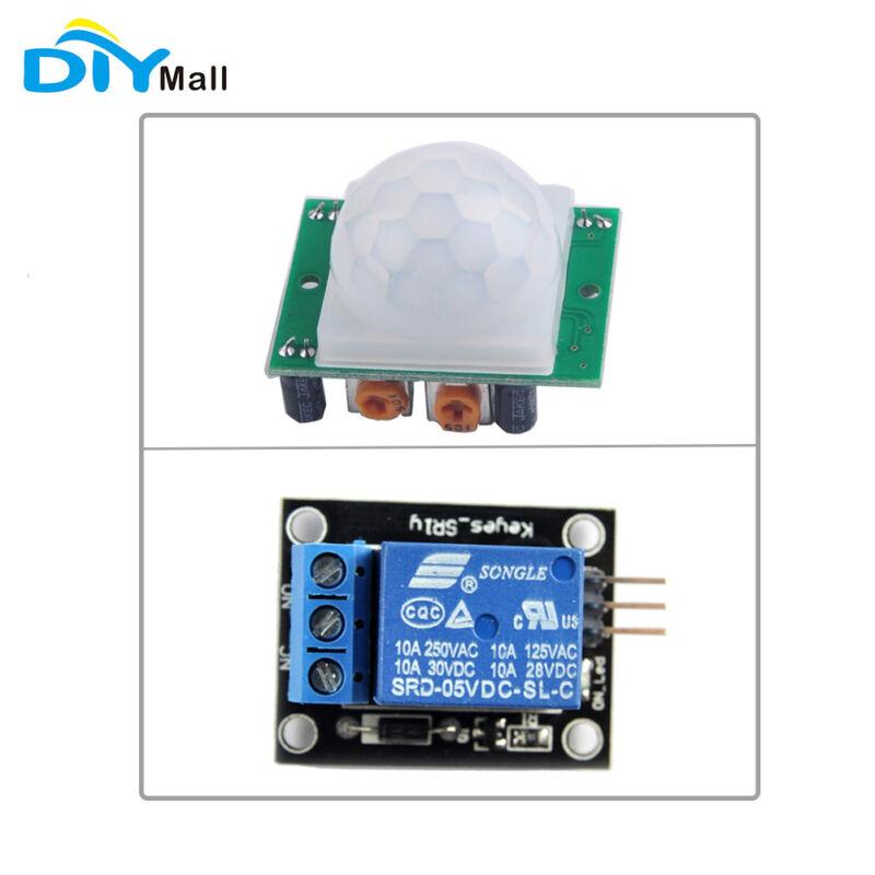 HC-SR501 Pir Infrared IR Sensor Body Motion Module 1 Channel Relay Module 5V