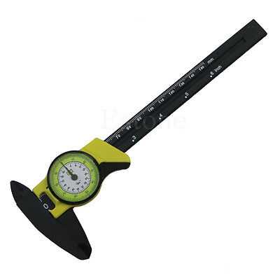 New 1pc Dial Caliper 6 Inch 150mm Plastic Vernier Caliper 4 Way Gauge Micrometer