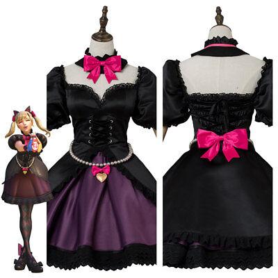 Overwatch DVA D.VA Song Hana Cosplay Costume Black Cat Puss Maid Suit Dress](Black Cat Suit Costume)