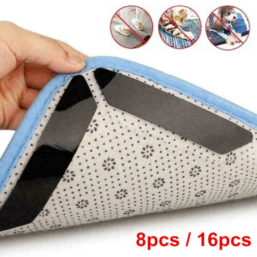 8/16PCS Anti Slip Carpet Mat Grippers Rubber Rug Sticker Skid Tape Reusable US Home & Garden