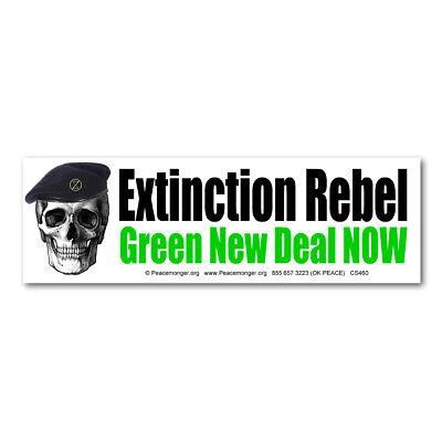 CS460 Extinction Rebel Che Guevara Skull Green Deal Climate Change Sticker