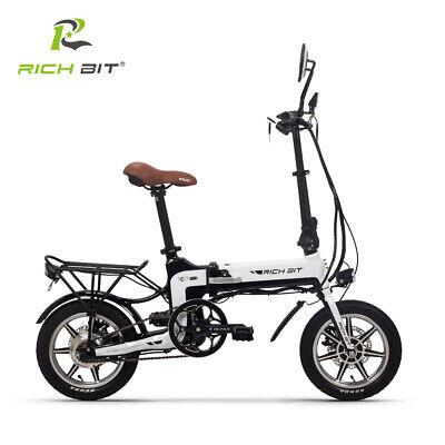 RICHBIT TOP-619 36V*250W Bicicleta Eléctrica Plegable con Espejo Retrovisor