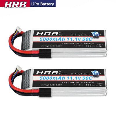 2pcs 5000mah 11 1v 3s lipo battery