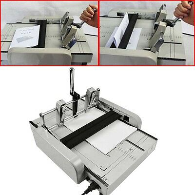 A3 Paper Booklet Binding And Folding Machine Manual Booklet Stapler 220v New