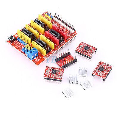 Cnc Shield Boarda4988 Stepper Motor Driverheatsink Kit F Arduino V3 Engraver