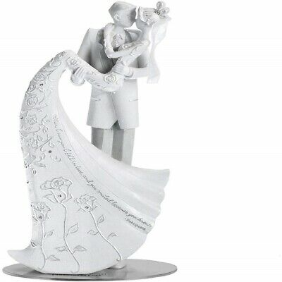 The Kiss When I Saw You I Fell In Love Wedding Bride and Groom Cake Topper Bride And Groom Kiss