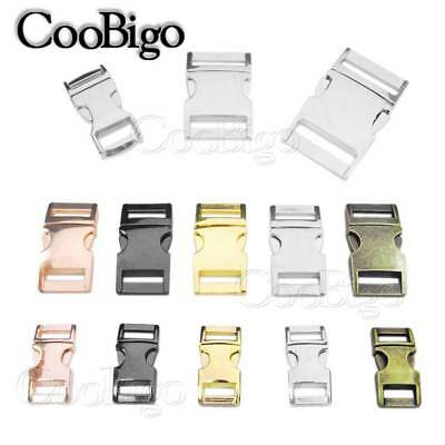 Metal Side Release Buckles - 5x Metal 3/8