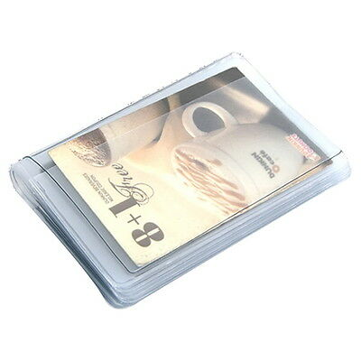 Plastic Wallet Insert Replacement Bifold Clear Credit Card Inner Holder 20 slots