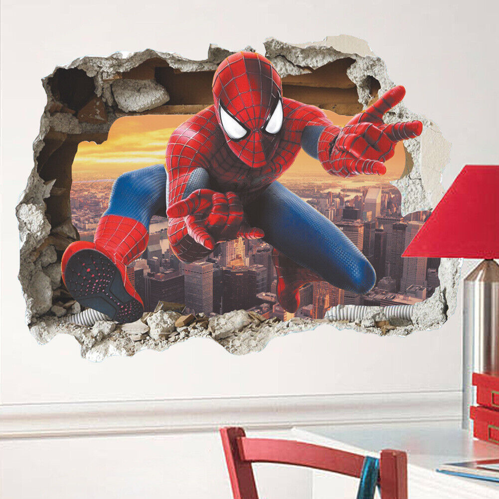 """Home Decoration -  Removable Wall Sticker home decor AU Stock """"Spiderman out of the wall 3D"""""""