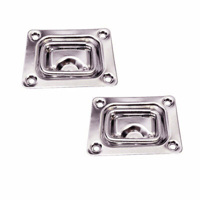 Stainless Hatch Hinges ( 2X Lift Handle buckles Pull Hatch Stainless Steel Flush Mount Floor Deck Hinges )
