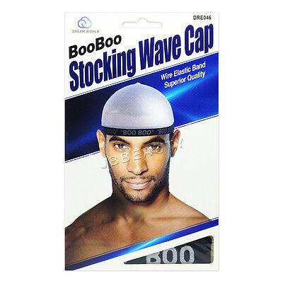(Dream Boo Boo Stocking Wave Cap Wire Elastic Band Du Doo Rag Men #0045 Black)