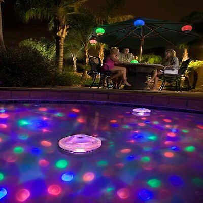 Floating Underwater LED Disco Light Glow Show Swimming Pool Hot Tub Spa Lamp (Floating Lights)