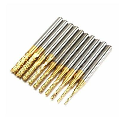 10pcs Pcb Drill Bit 18 0.8-3.175mm Engraving Cutter Rotary Cnc End Mill Up