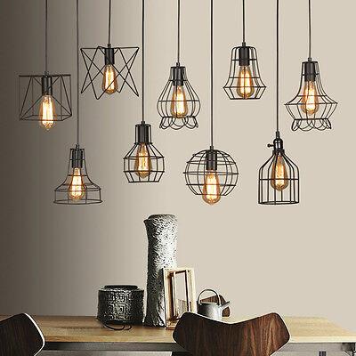 Edison Vintage soffitto Lampadario in metallo Illuminazione Lampada sospensione