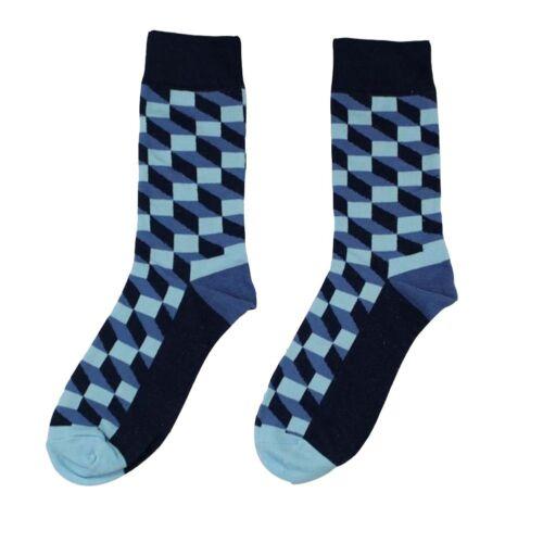 Hot Men Cotton Blend Socks Warm Fancy Crew Fashion Design Casual Dress Socks Pro