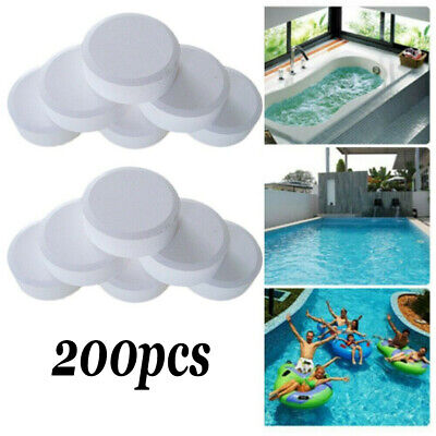 200pcs Chlorine Tablets For Swimming Pool Multifunction Instant Disinfection Tub