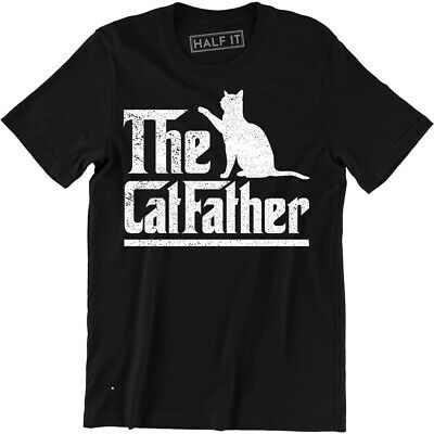 The Catfather T-Shirt Cat Dad Pet Lover Gift Ideas Fathers Day Daddy Tee Shirt ()