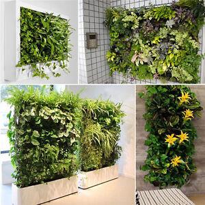 56 Pocket Indoor Outdoor Balcony Herb Vertical Garden Wall Hanging Planter Bag