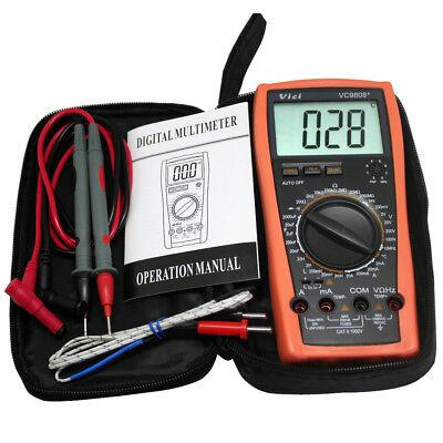 Digital Multimeter Res Cap Freq Temp Dcva Diode Buzz Auto Power