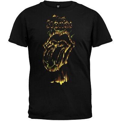 Rolling Stones - Flaming Tongue Soft Adult Mens T-Shirt
