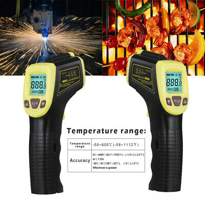 Industrial Digital Laser Temperature Gun Infrared Thermometer Non-contact Lcd Us